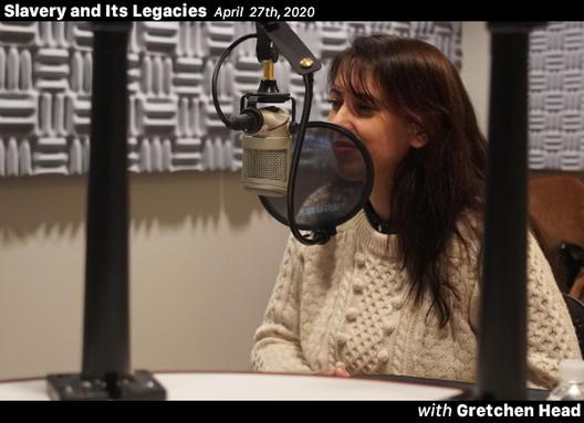 Gretchen Head at the Yale Broadcast Studio