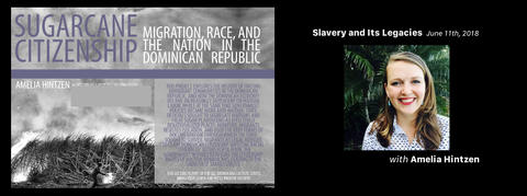 Cover graphic for the episode of Slavery and Its Legacies featuring Amelia Hintzen