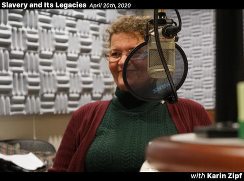 Karin Zipf at the Yale Broadcast Studio